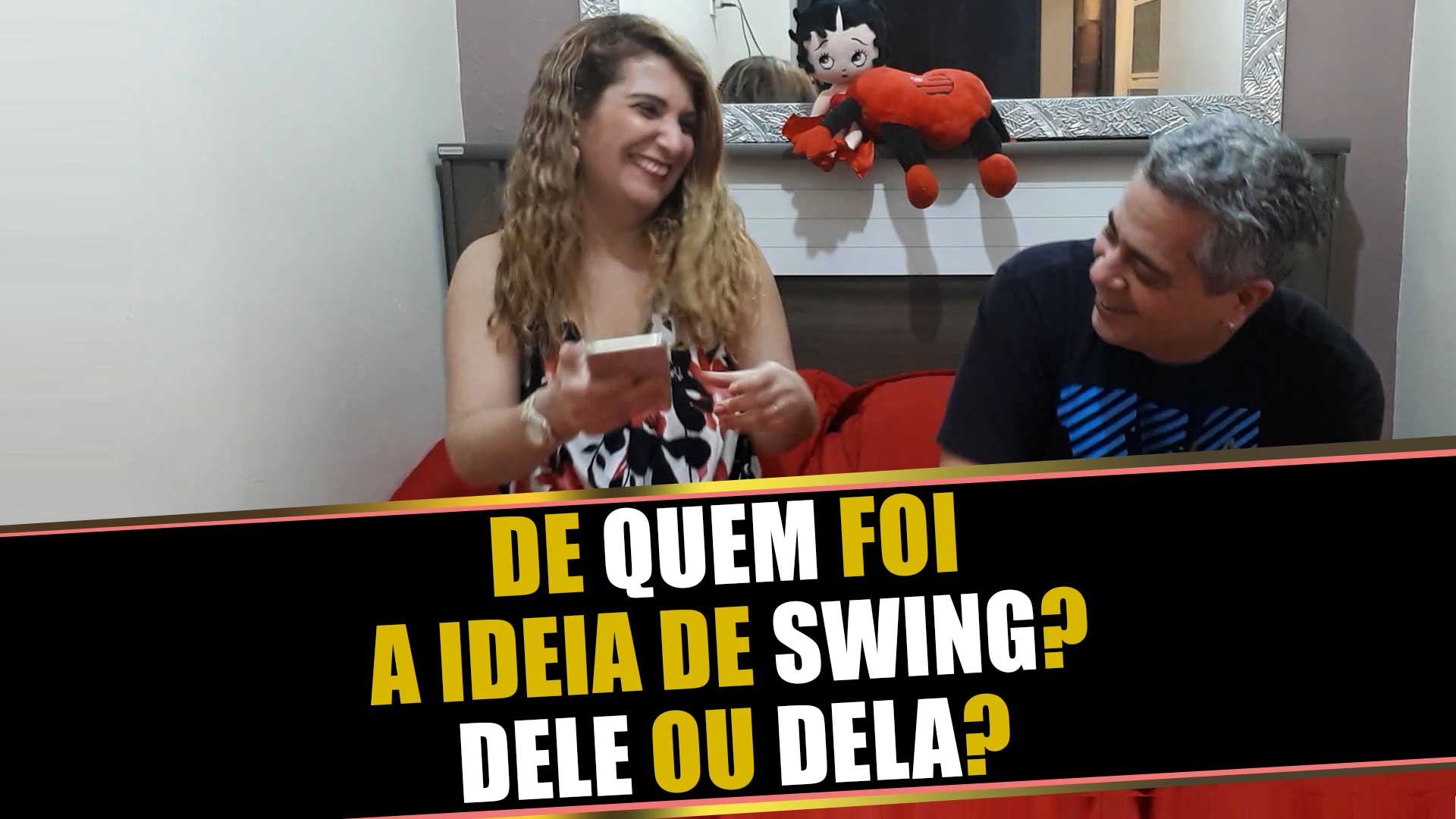 De quem foi a ideia para experimentar o swing? Dele ou Dela?